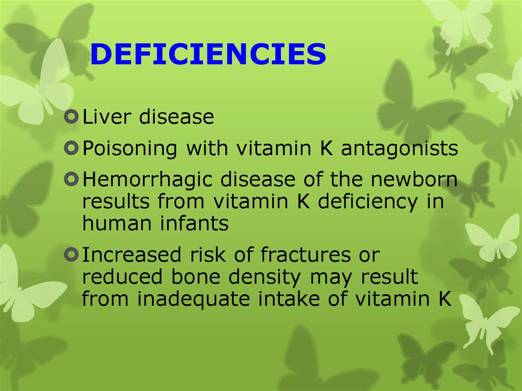 DEFICIENCIES