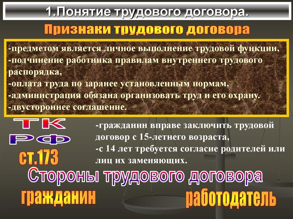 Роль Трудового Договора Шпаргалка