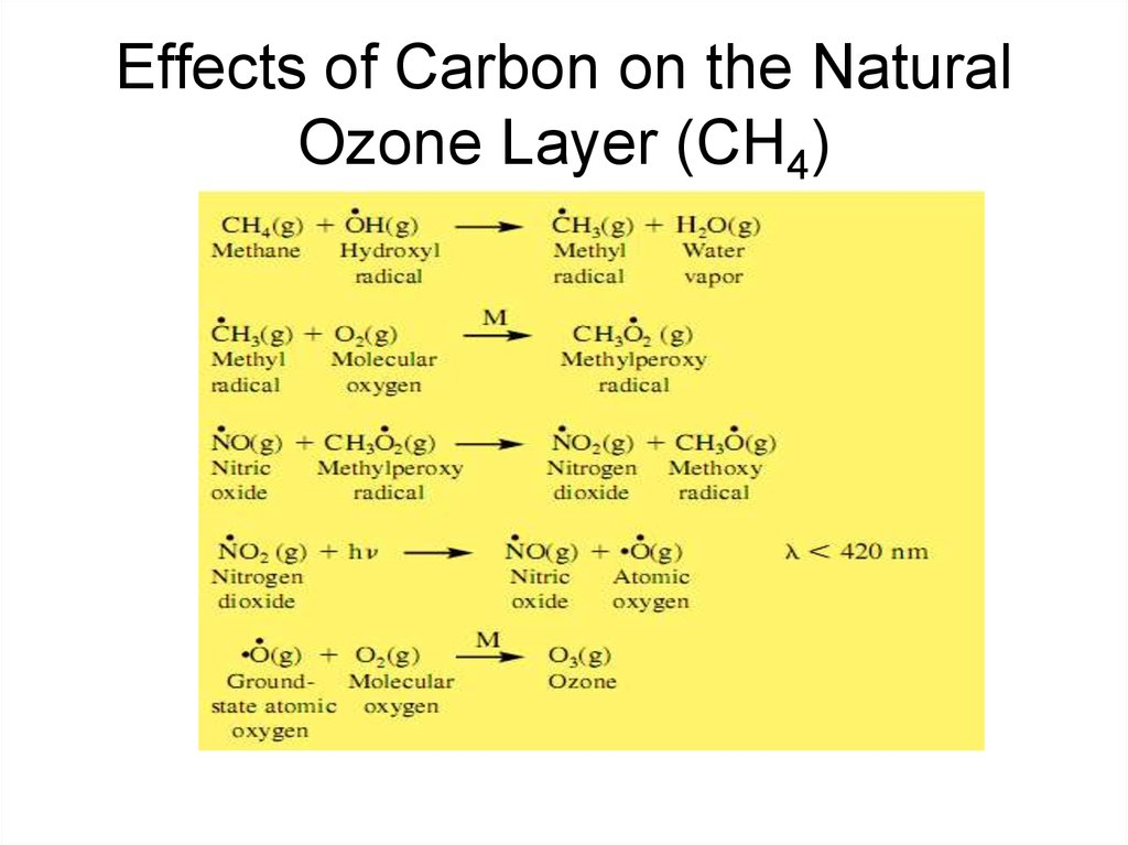 Effects of Carbon on the Natural Ozone Layer (CH4)