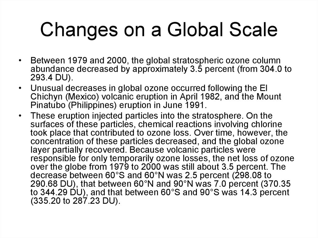 Changes on a Global Scale