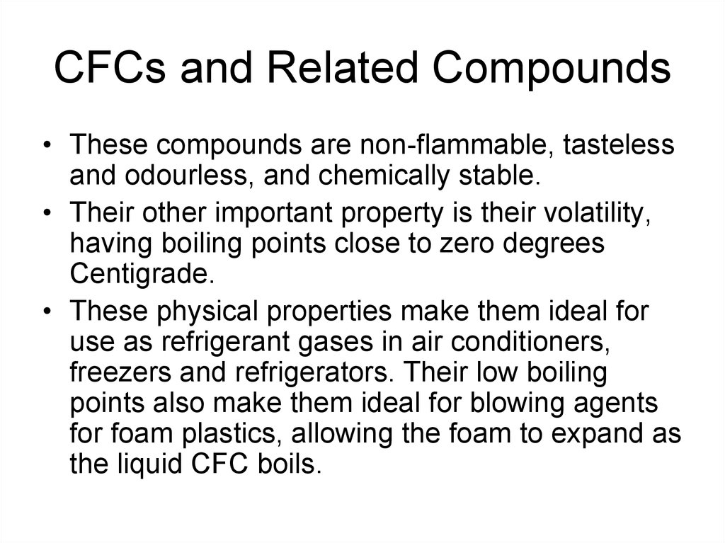 CFCs and Related Compounds