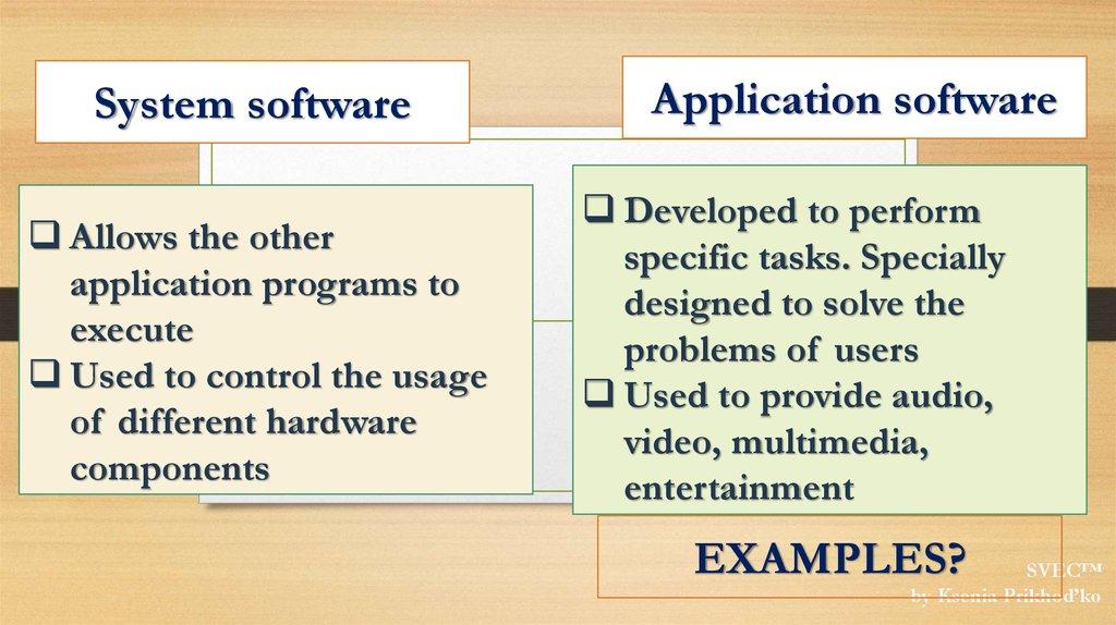 Computer Software - презентация онлайн