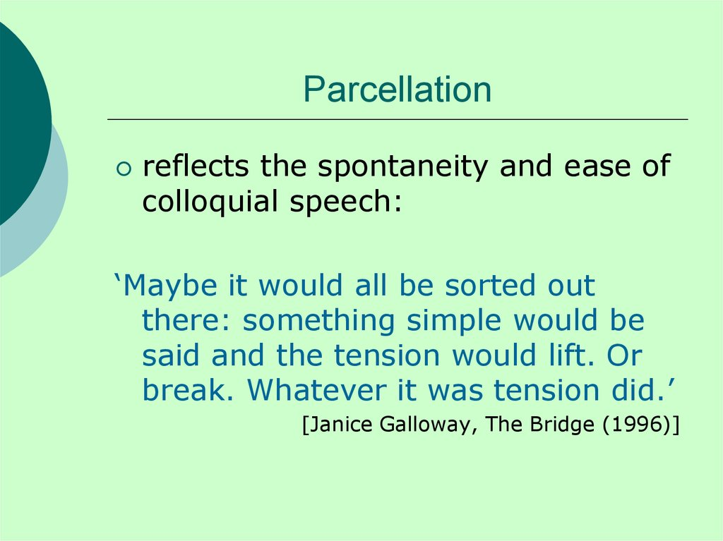 Parcellation