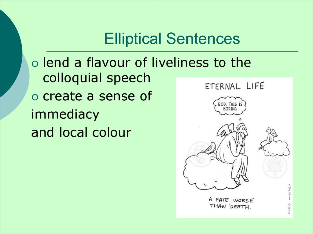 Elliptical Sentences