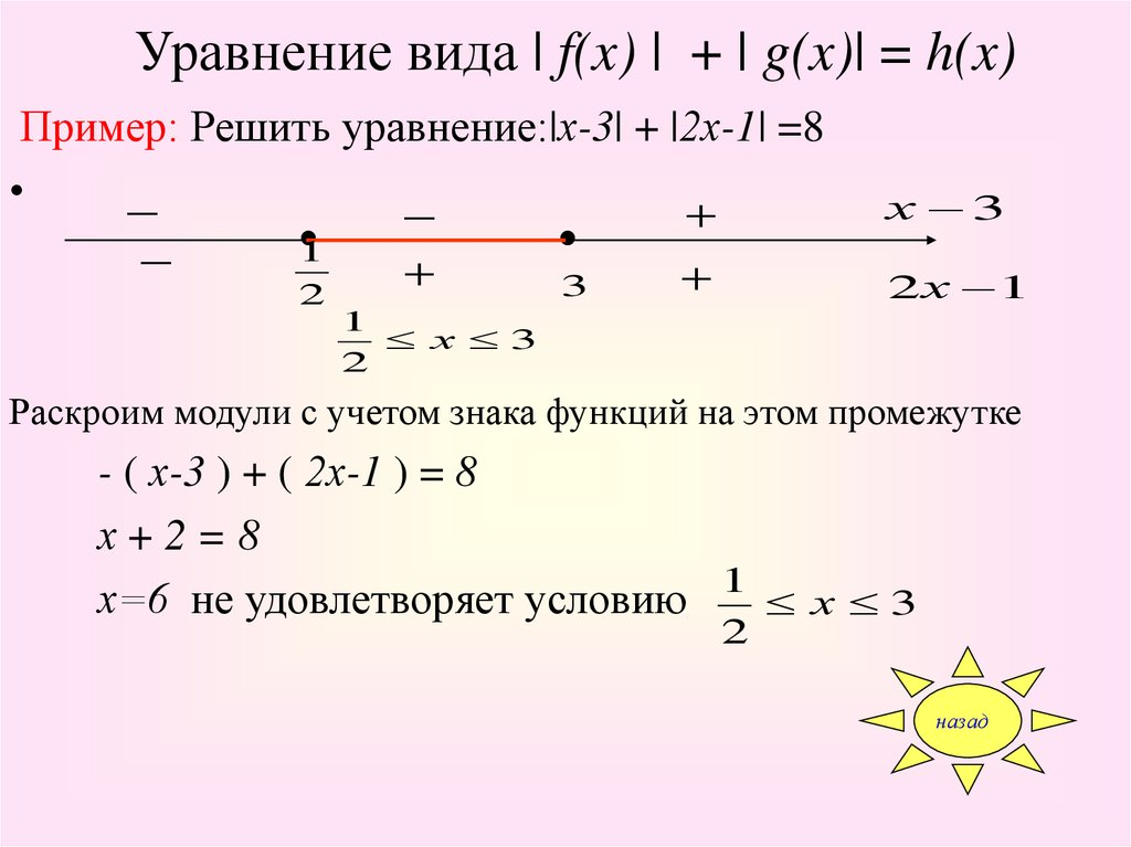 модуля системы неравенств знаком содержащие под переменную