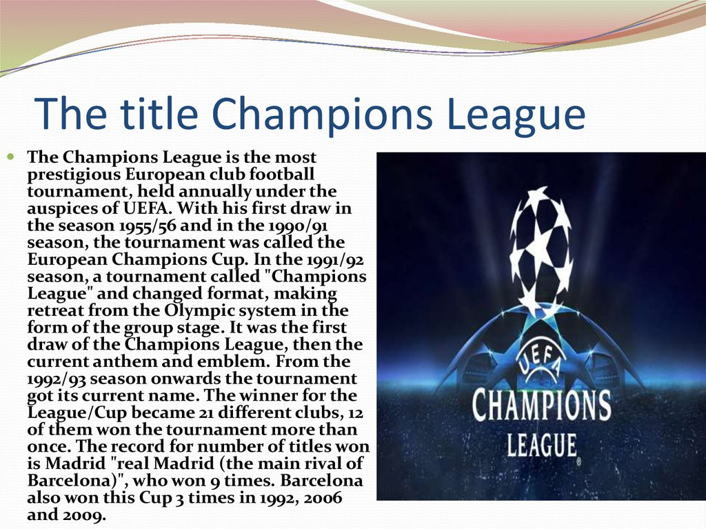 The title Champions League