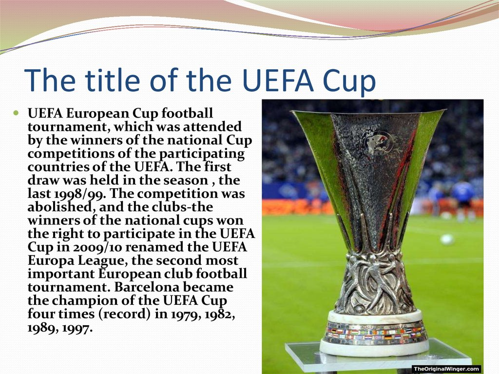 The title of the UEFA Cup
