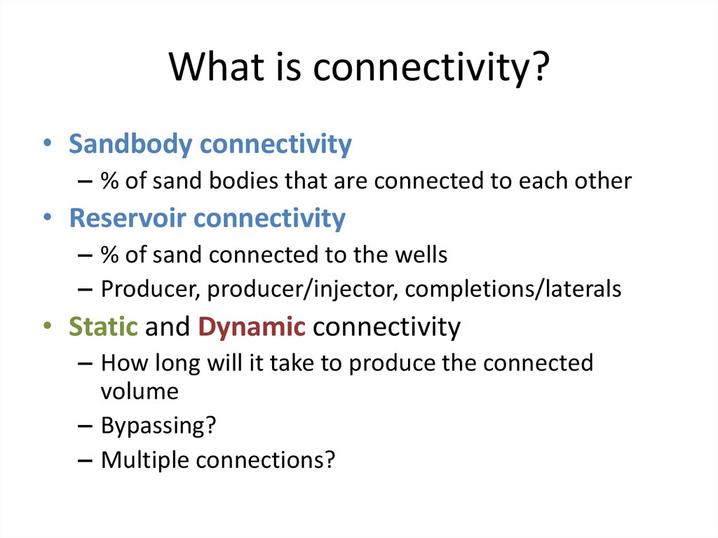 Does connectivity influence recovery?