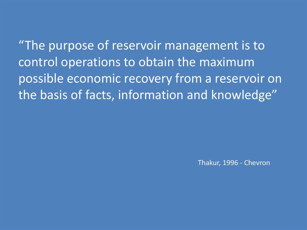 Reservoir Management Online Presentation