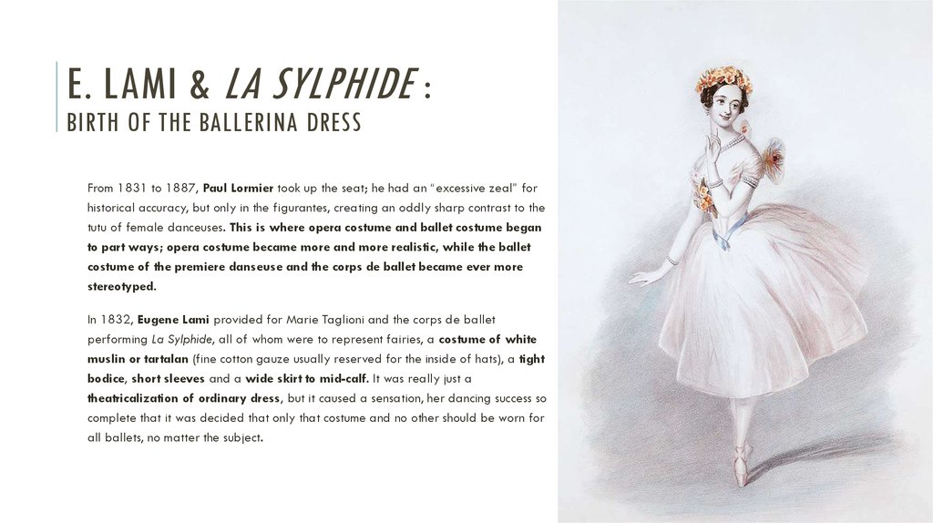 E. LAMI & La sylphide : Birth of the ballerina dress