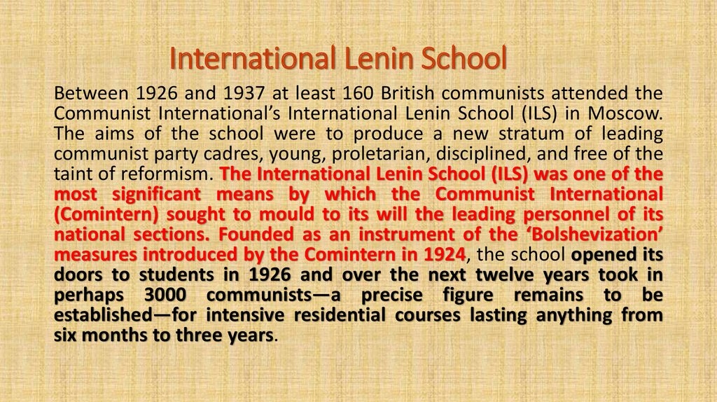 Image result for Lenin International School