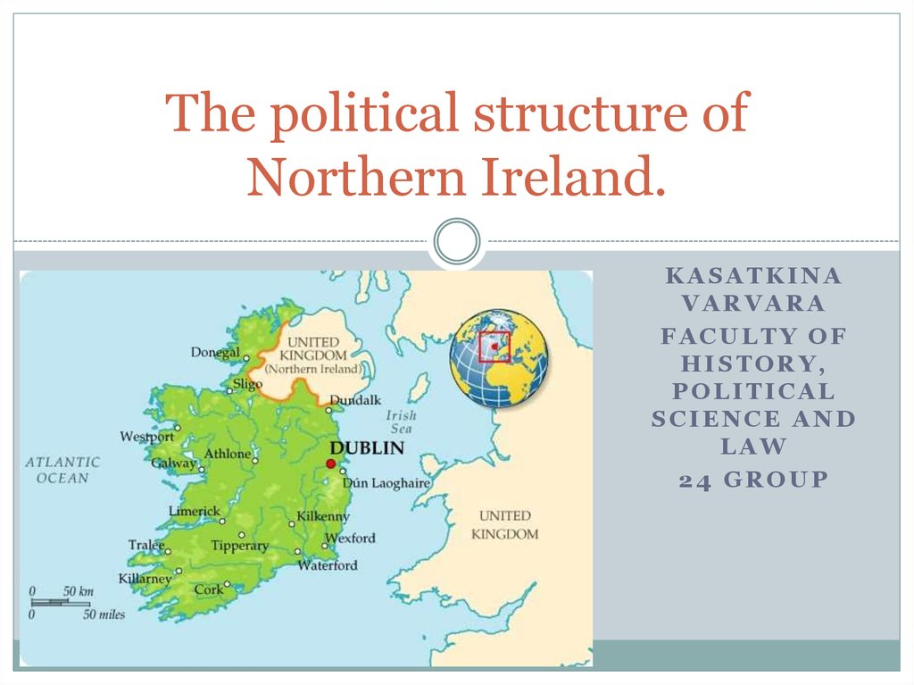 The political structure of Northern Ireland.