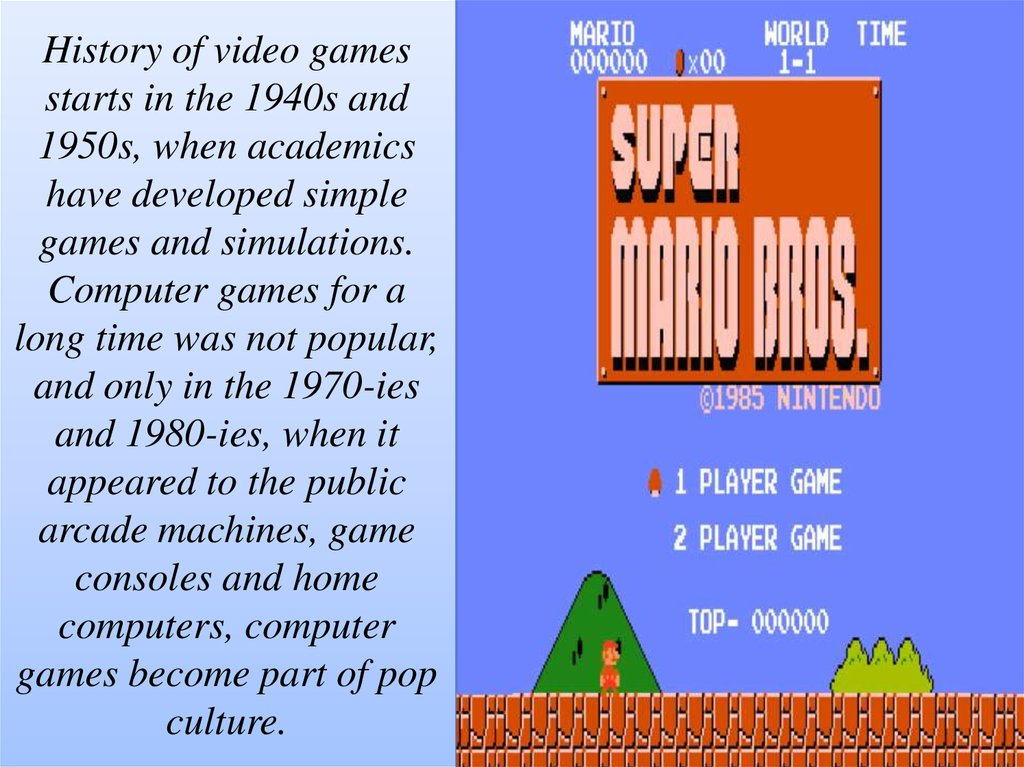 history of computer games essay Persuasive essay: video games teenagers today often spend a great deal of time playing video games these games are fun and engaging and young people often feel like playing games is a great thing to do in their spare time.