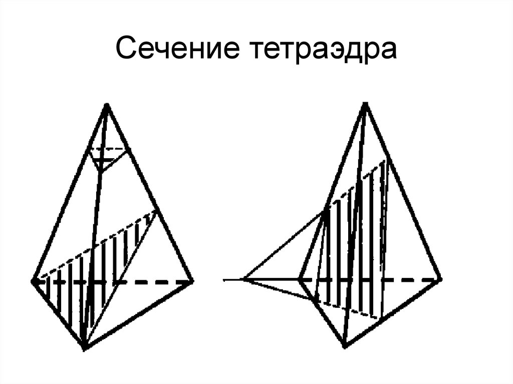 Построение сечений тетраэдра онлайн будет