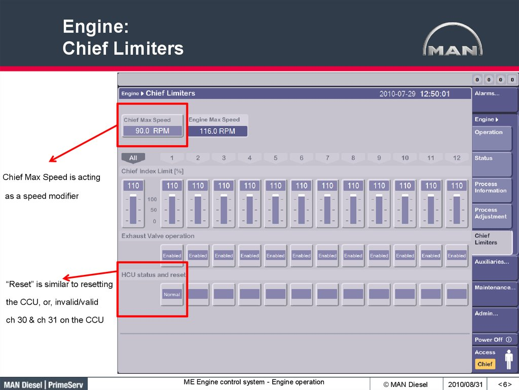 Engine: Chief Limiters