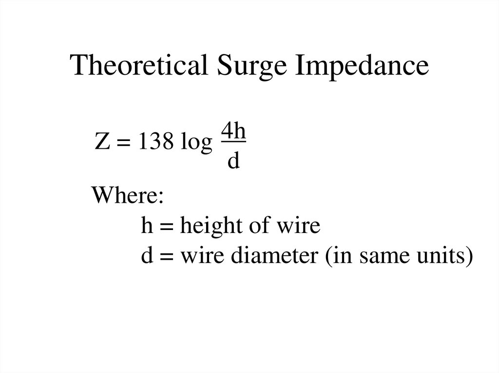 Theoretical Surge Impedance