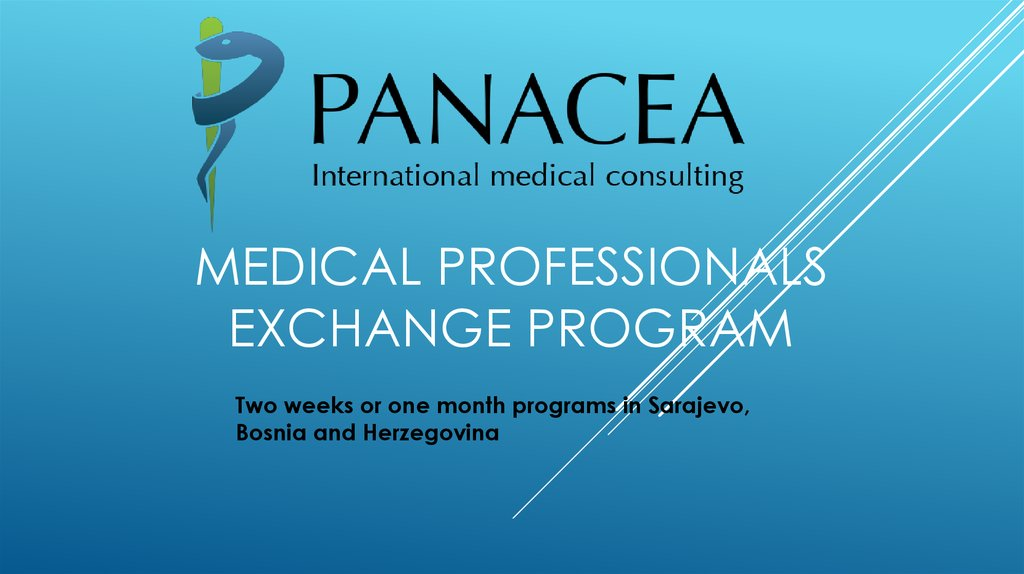 MEDICAL PROFESSIONALS EXCHANGE PROGRAM