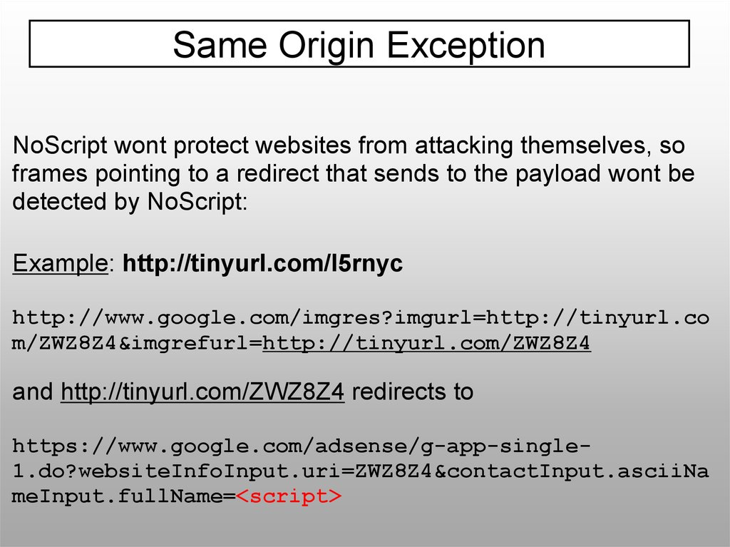 Our Favorite XSS Filters/IDS and how to Attack Them - презентация онлайн