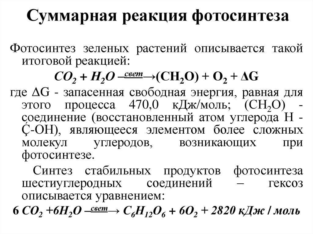 добавим химическая формула фотосинтеза поверхность уступает