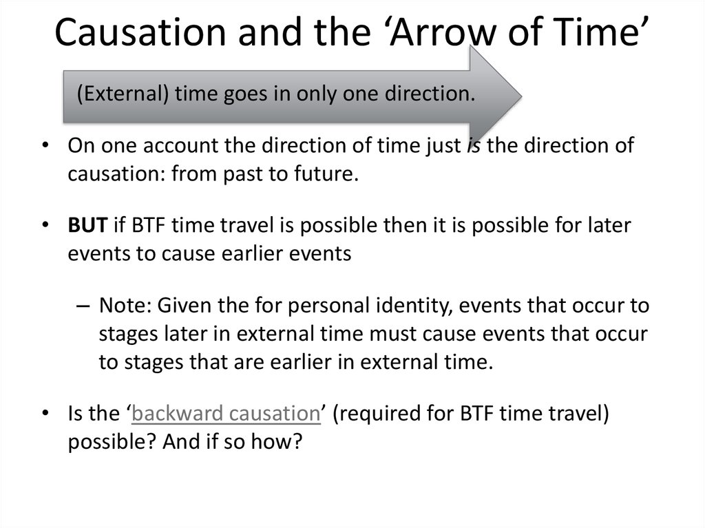 Causation and the 'Arrow of Time'
