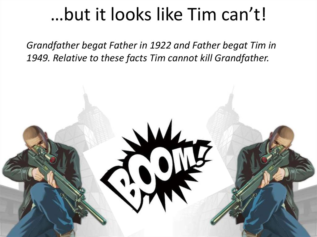 …but it looks like Tim can't!
