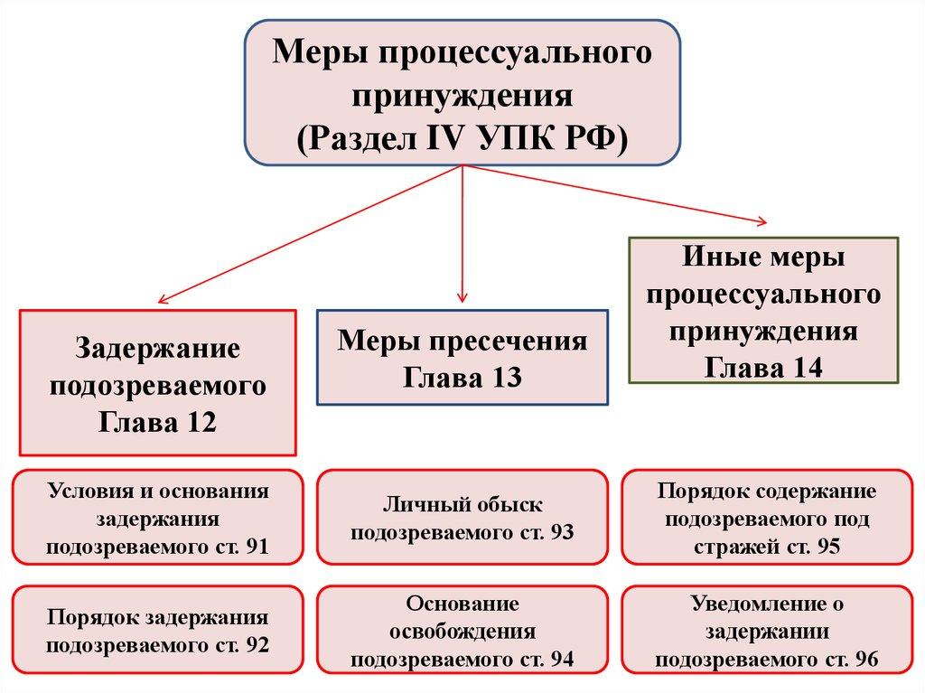 меры процессуального принуждения в уголовном процессе