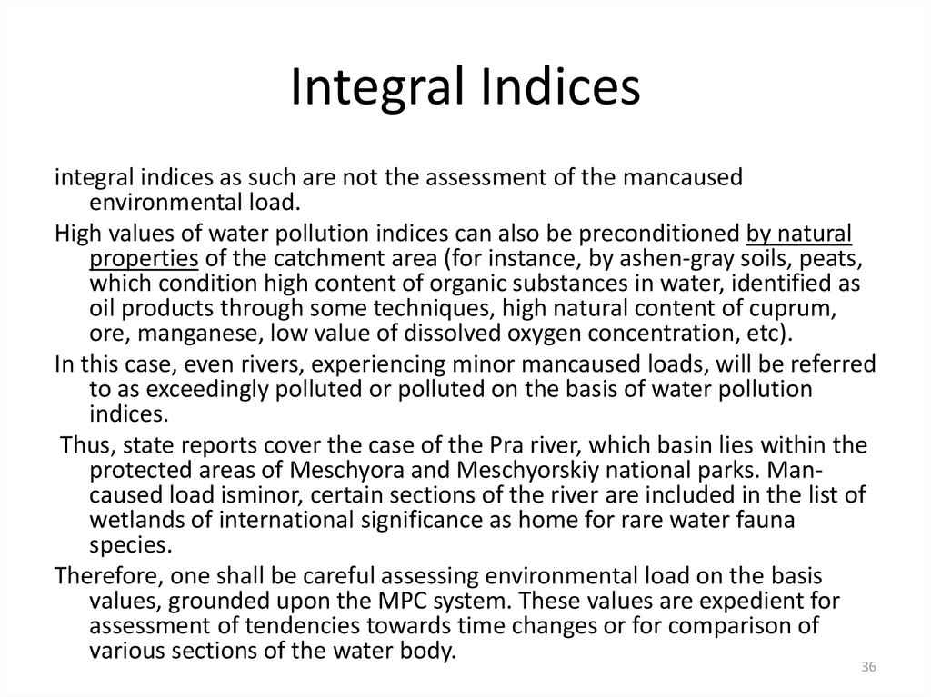 Integral Indices