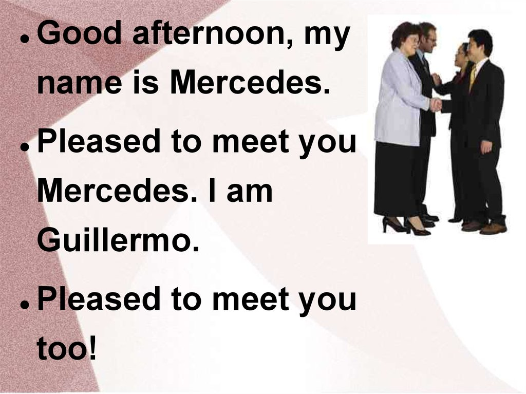 Greetings And Introductions Simple Dialogs Online Presentation