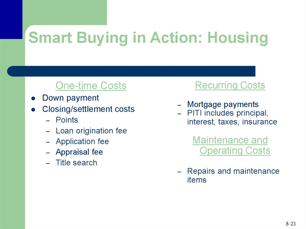 Smart Buying in Action: Housing