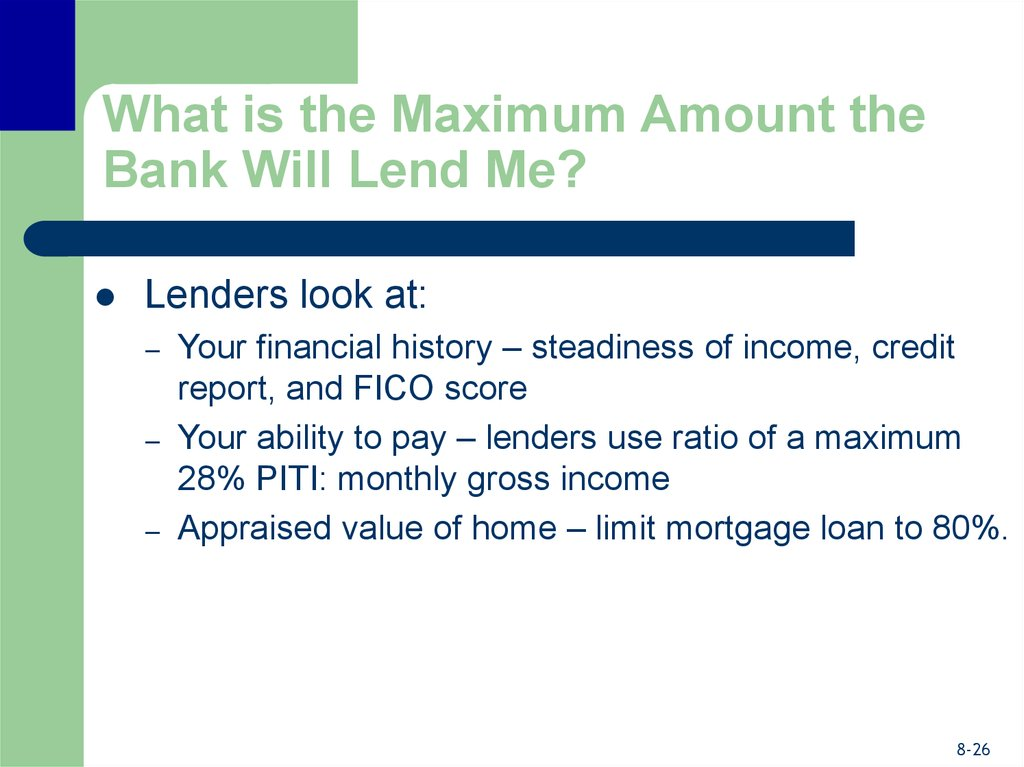 What is the Maximum Amount the Bank Will Lend Me?