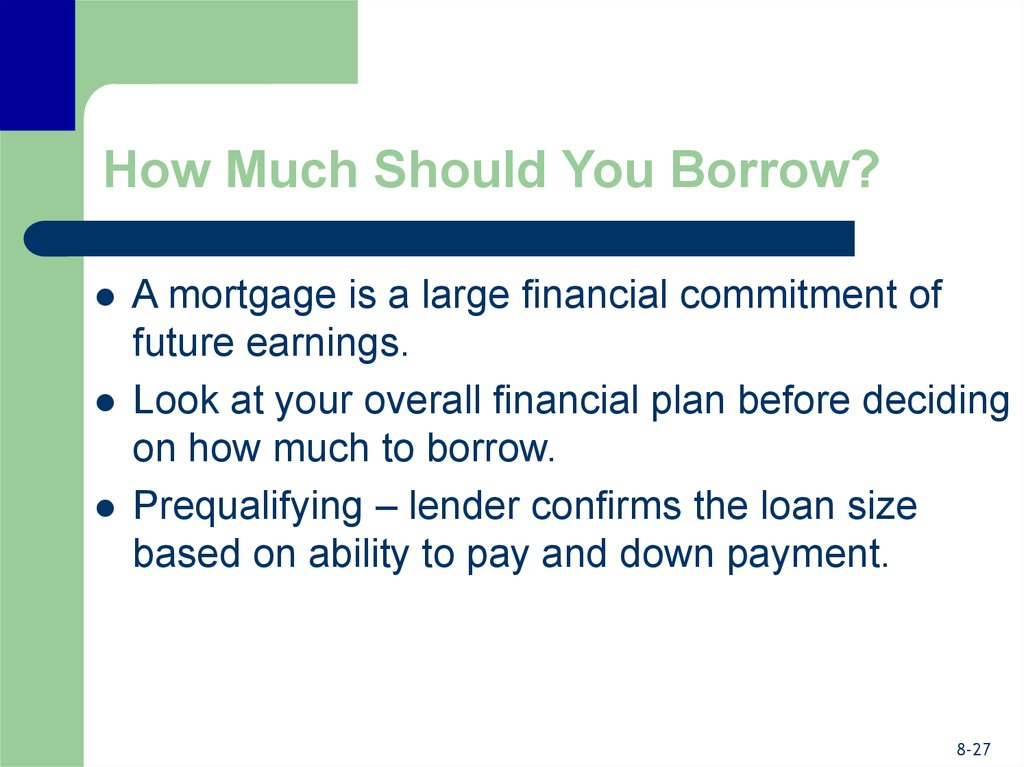 How Much Should You Borrow?