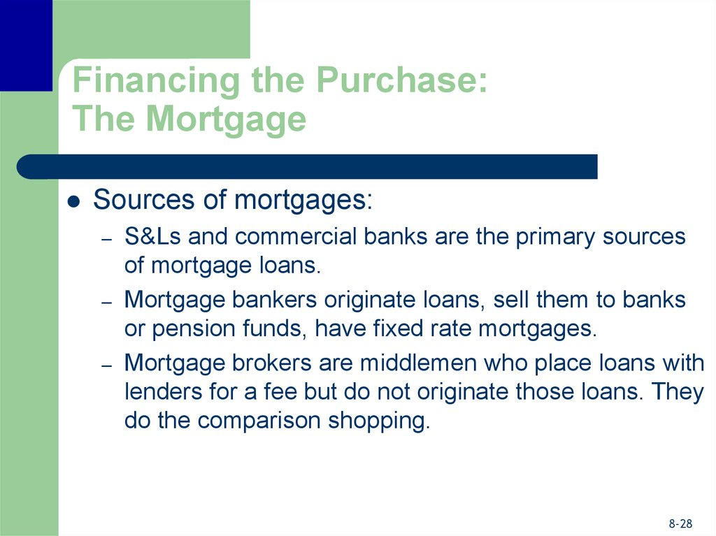 Financing the Purchase: The Mortgage