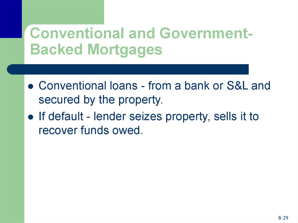 Conventional and Government-Backed Mortgages