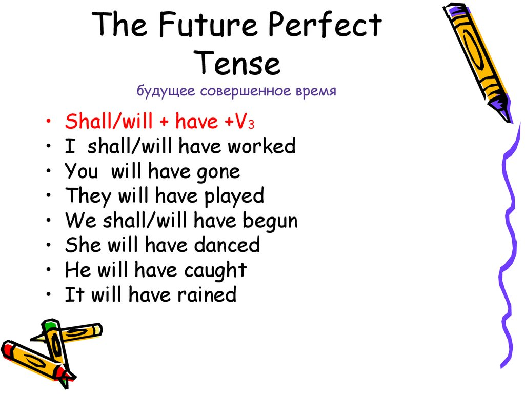 future perfect tense essay This is the first step in deciding the tense present future perfect have a structure as will + have + verb ending in en future 2018 assignment essays all rights.