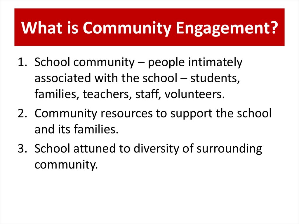 What is Community Engagement?