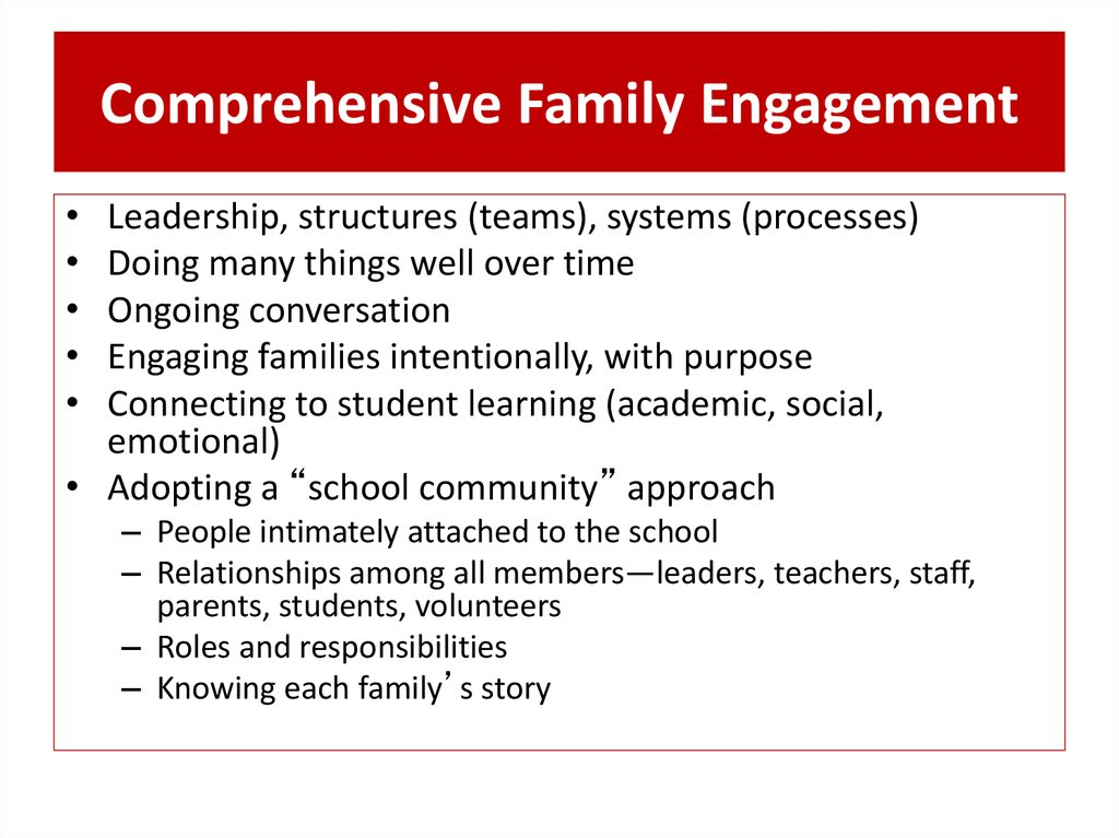 Comprehensive Family Engagement