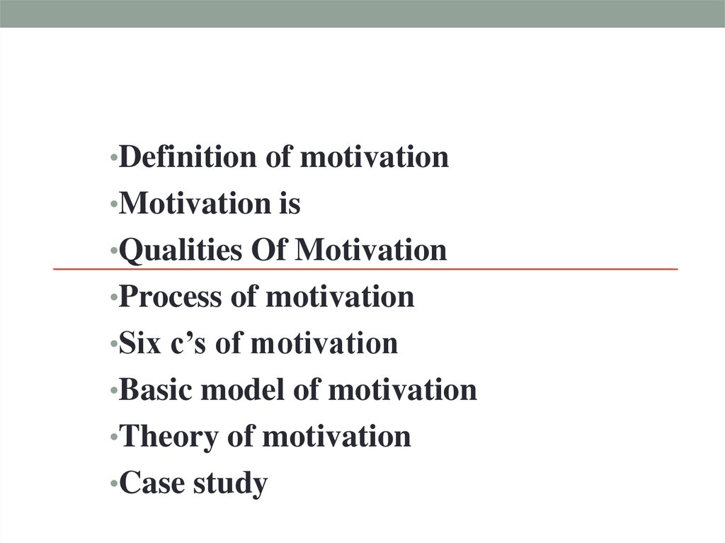 A model of contextual motivation in