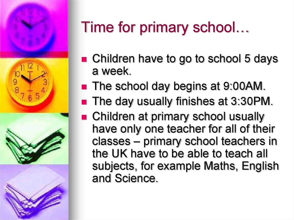 Time for primary school…