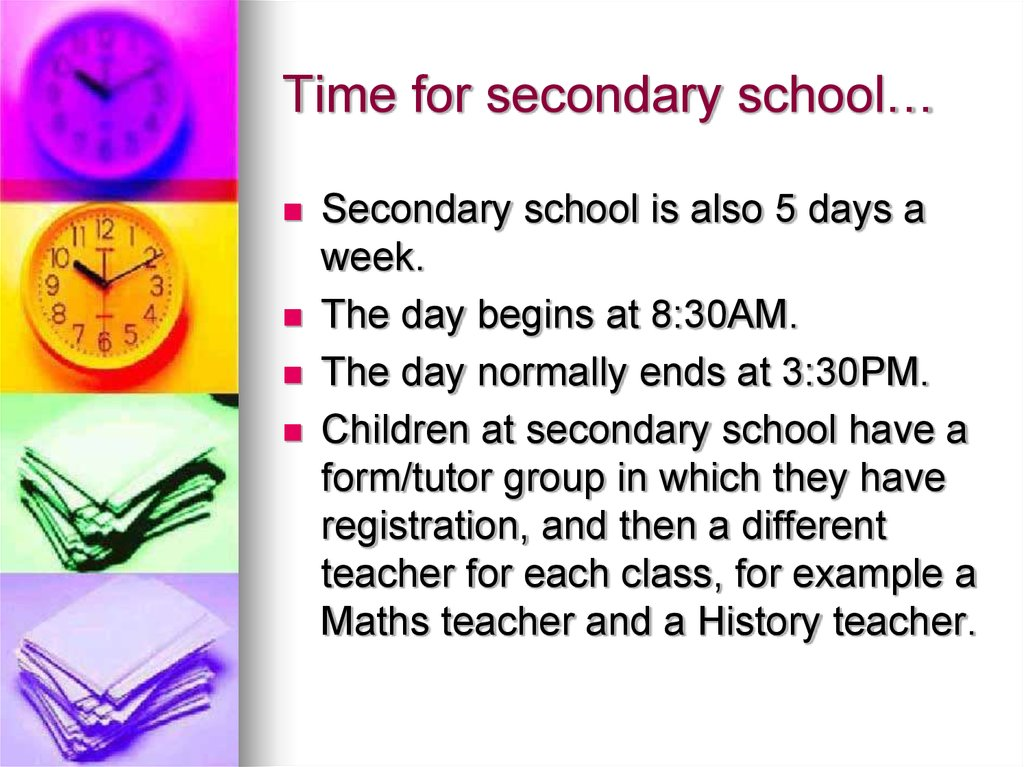 Time for secondary school…