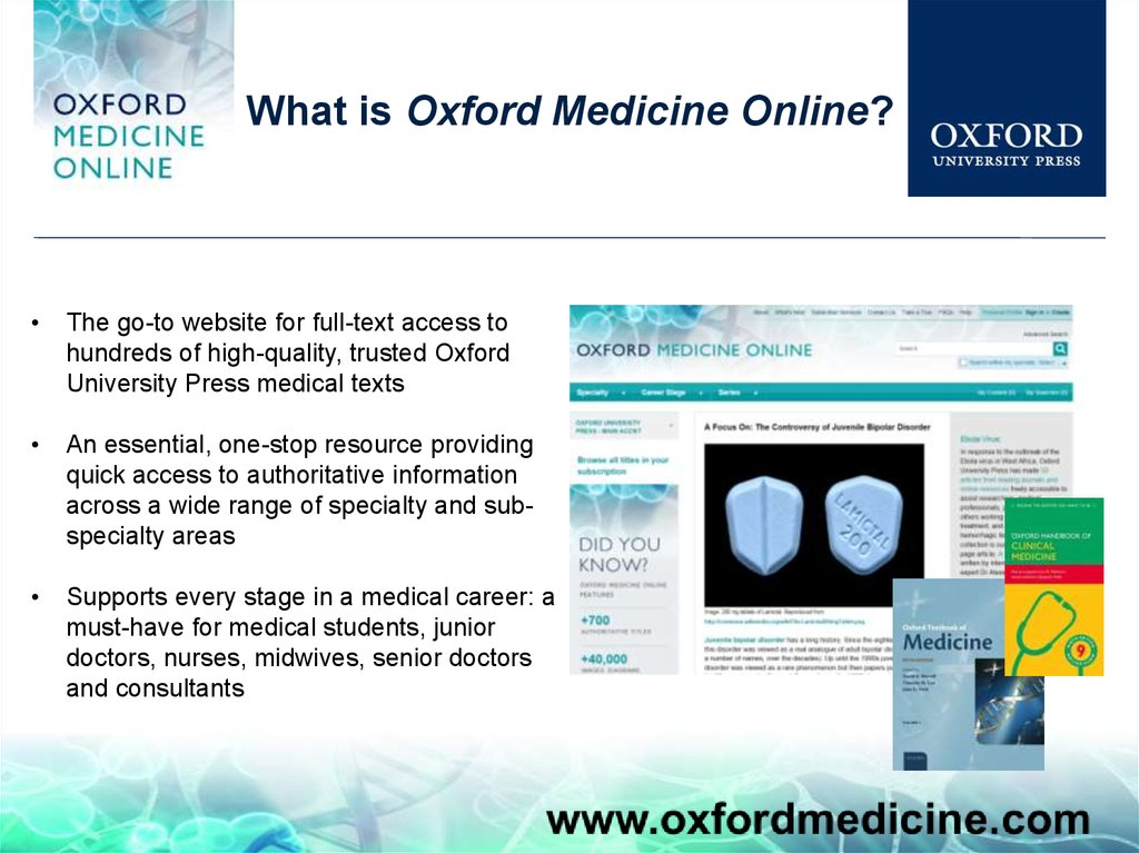 What is Oxford Medicine Online?