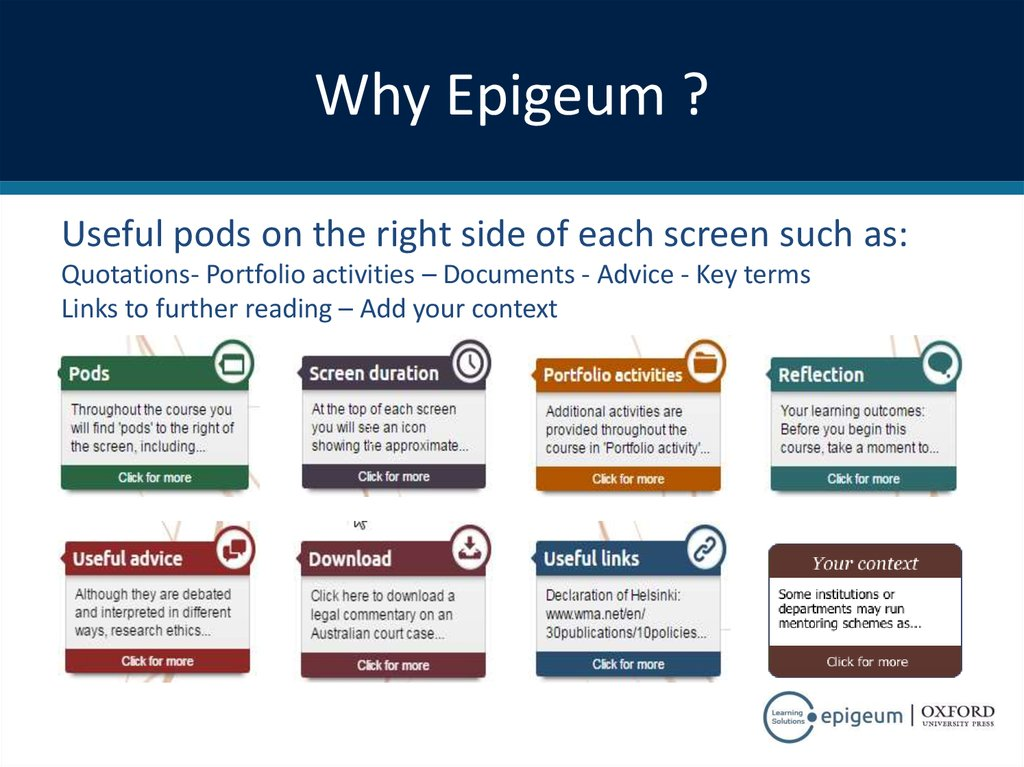 Why Epigeum ?