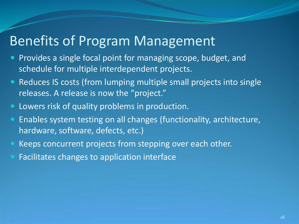 Benefits of Program Management