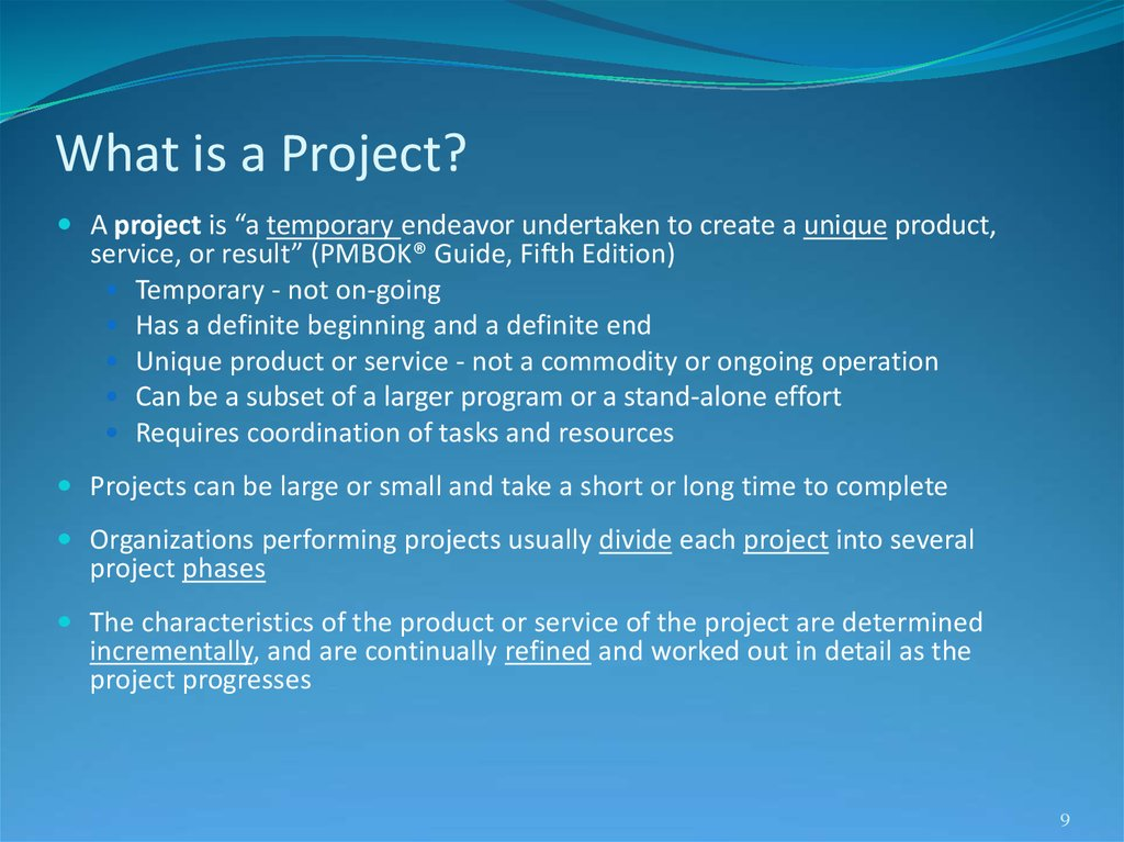 What is a Project?