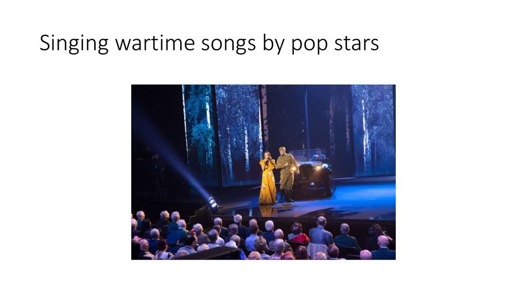 Singing wartime songs by pop stars