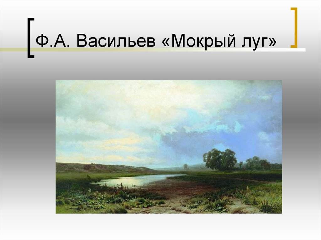 Картинка мокрый луг васильев