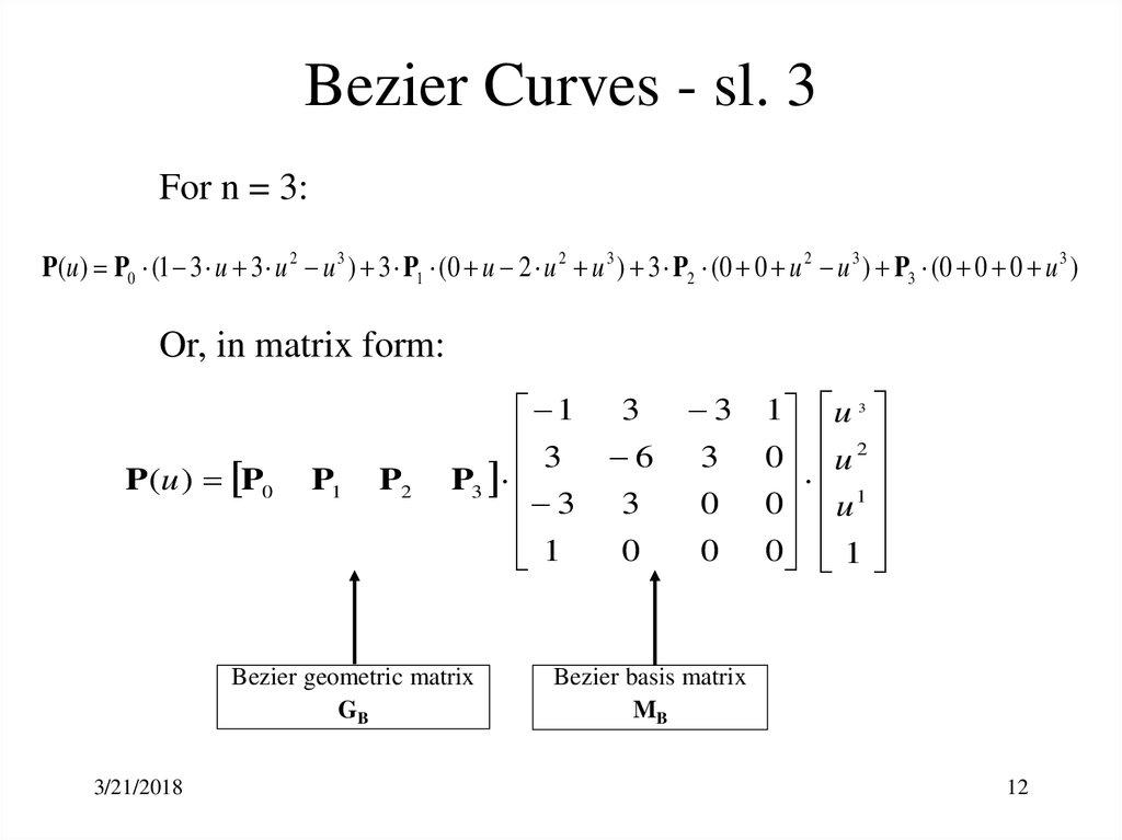 Geometric Modeling - Parametric Representation of Synthetic