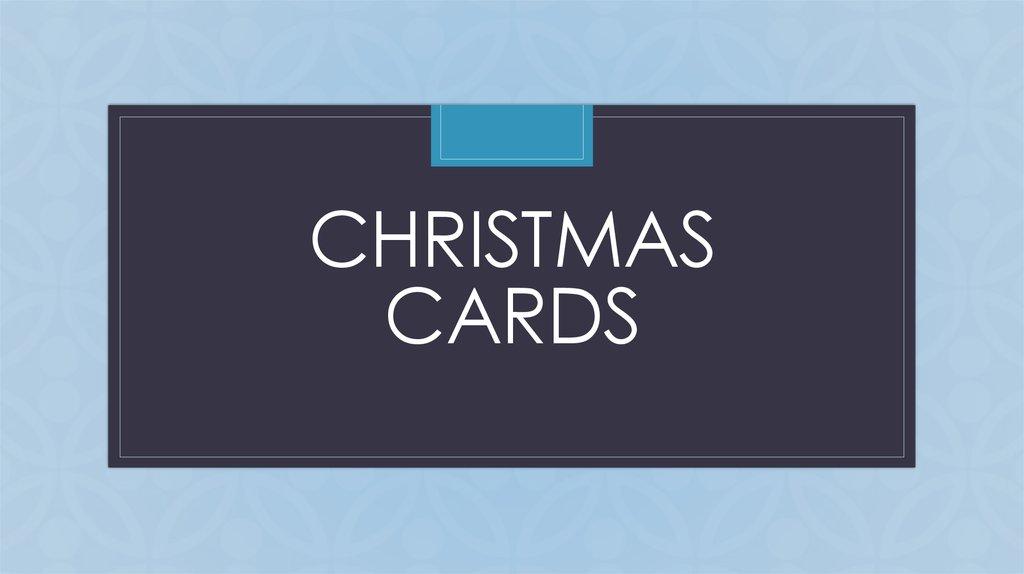 Christmas cards - online presentation