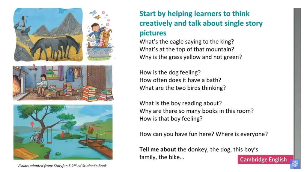 Story making and story telling - online presentation