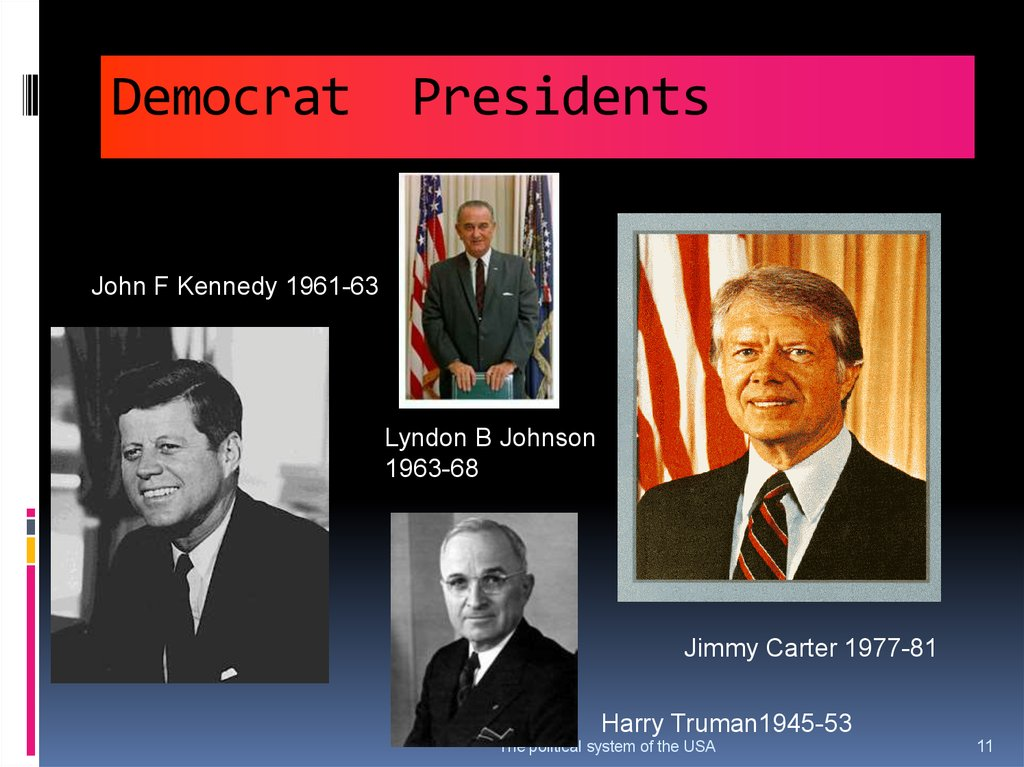 Democrat Presidents