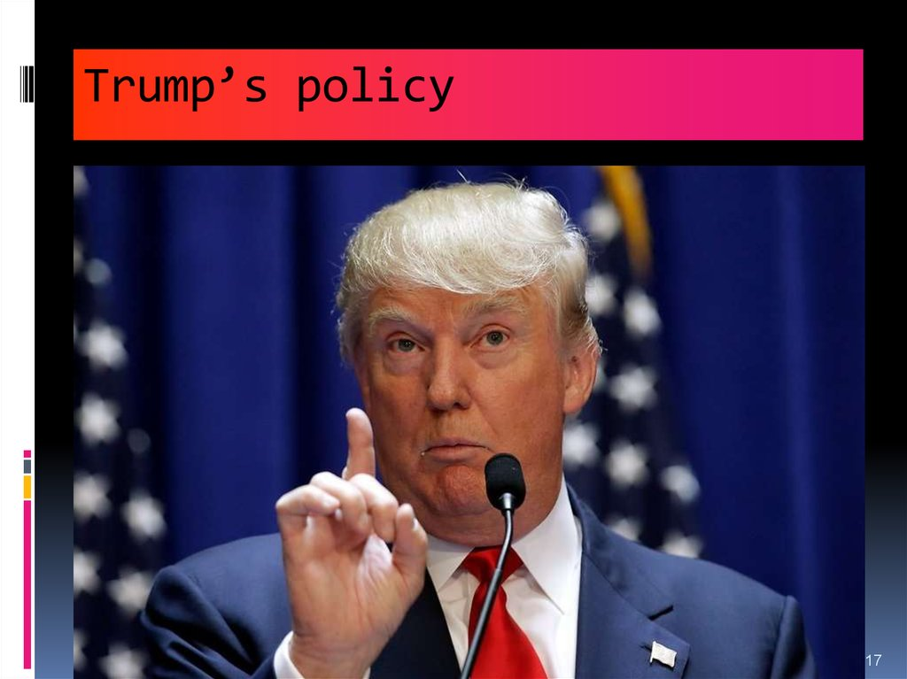 Trump's policy